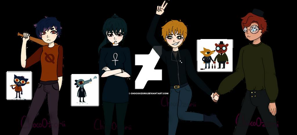 NITW Main characters (human au) by ChocoOzorii