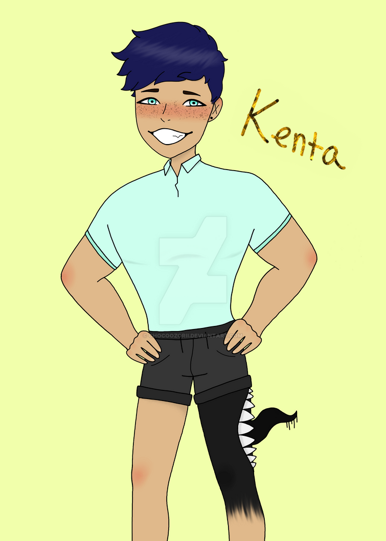 Kenta (species OC) by ChocoOzorii
