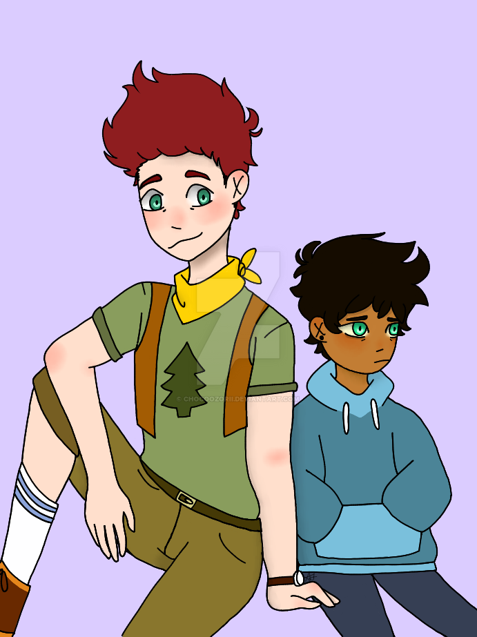 David and Max from Camp Camp by ChocoOzorii