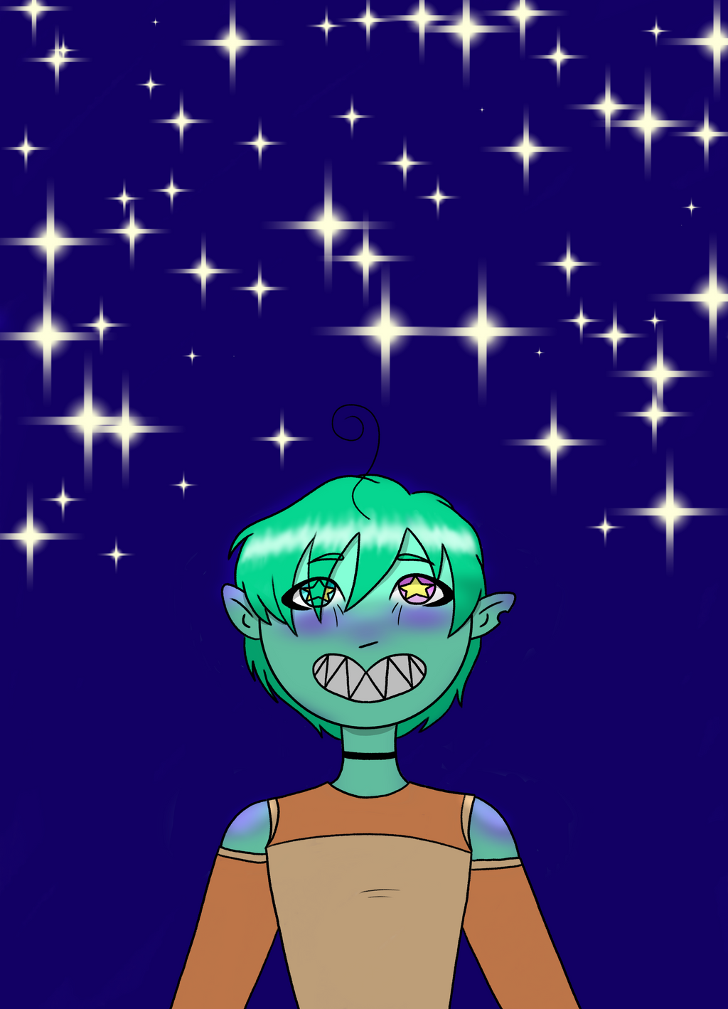 Nitya under earths stars (OC) by ChocoOzorii