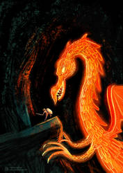 The Golden Dragon by AndreIllustrates