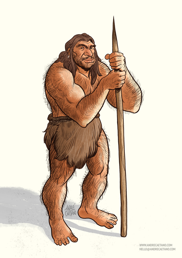 Caveman - Character Design Challenge by AndreIllustrates