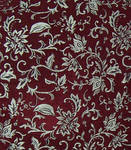 Red and Silver Brocade