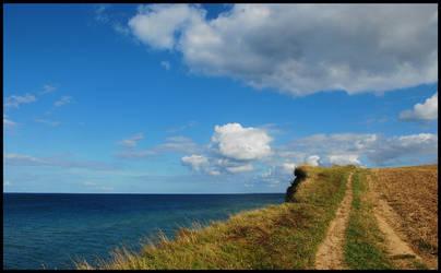 Walking on the cliff again by jchanders