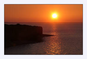 Sunset at the Pointe du Hoc by jchanders