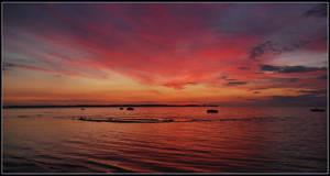 Baltic Sea sunset colours
