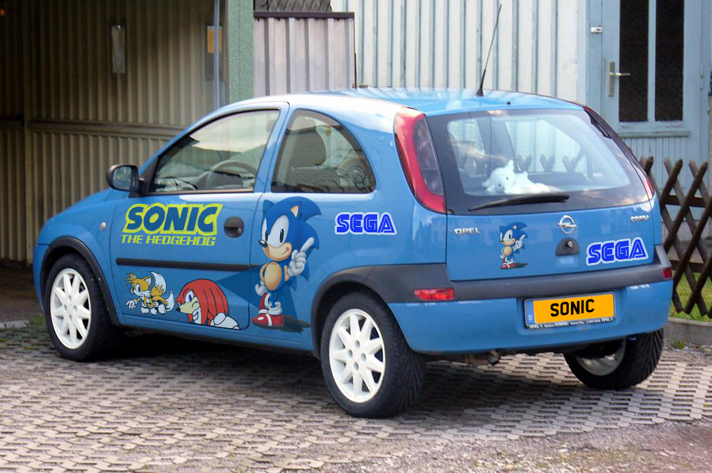 Sonic The Hedgehog Opel Corsa By Hotrod89 On Deviantart