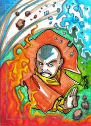 Aang Charity Sketch Card by y2jenn