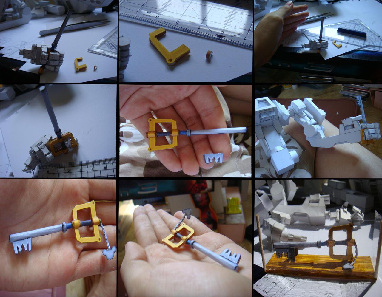 Kingdom Key papercraft by Loone-Wolf