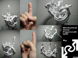 mechanical hand WIP by Loone-Wolf