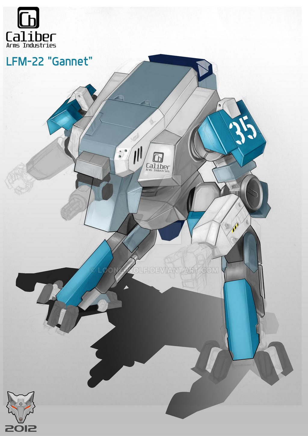 Gannet Light Mech Concept WIP by Loone-Wolf