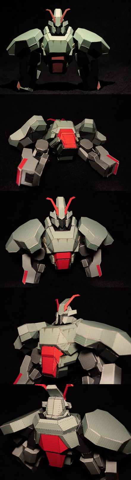 Samurai Bot Papercraft WIP by Loone-Wolf