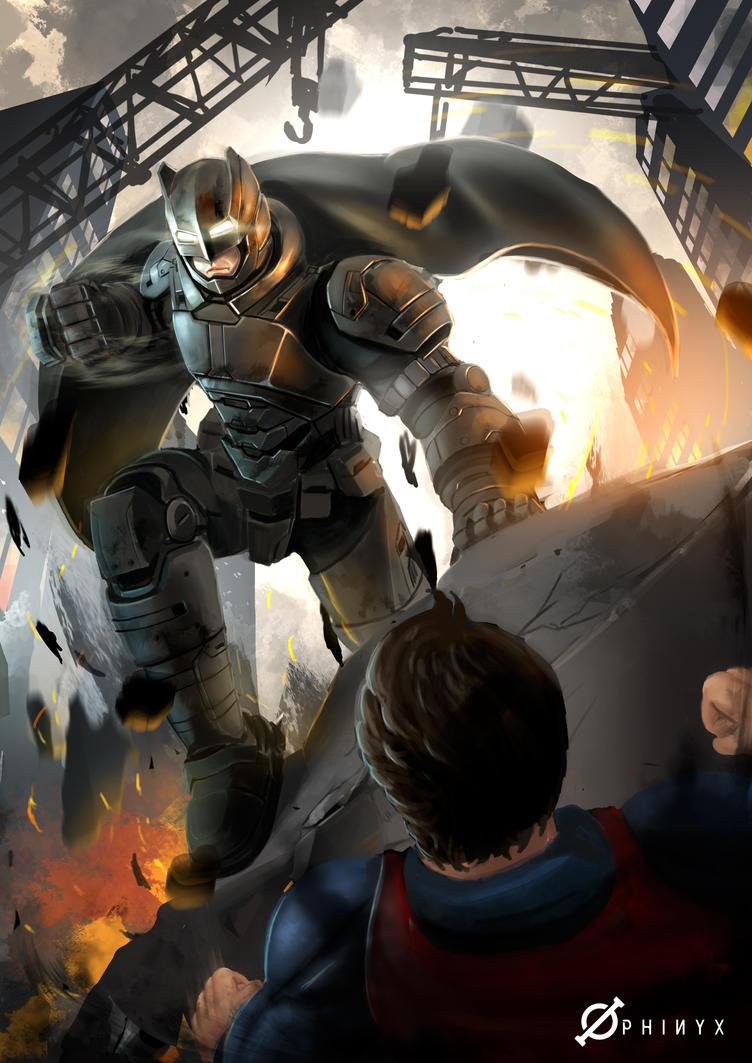 Batman Vs Superman fanart by Loone-Wolf