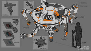 Repair Drone Rough Concept by Loone-Wolf