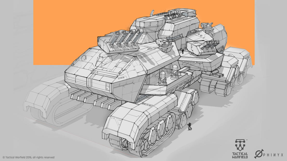 Tactical Warfield- Land Battleship by Loone-Wolf
