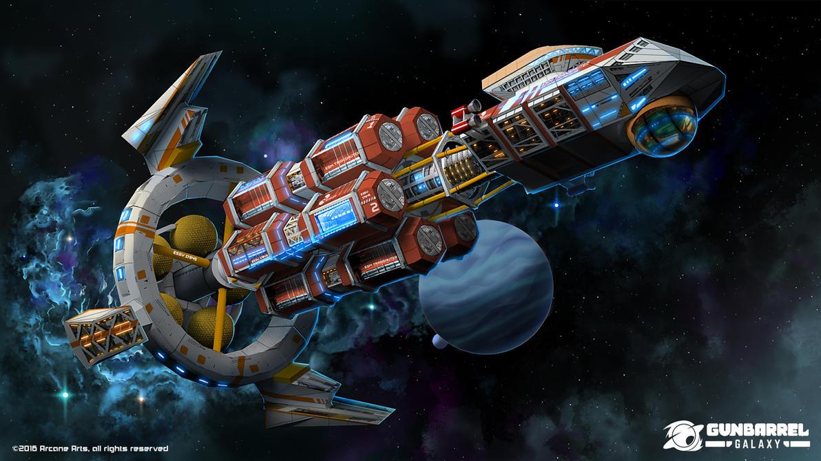 Gunbarrel Galaxy - ESM Transmutter by Loone-Wolf