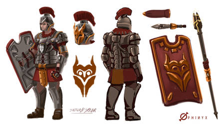 New Roman Times - Spearmen by Loone-Wolf