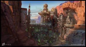 Skaven Infested Dwarven Canyon City