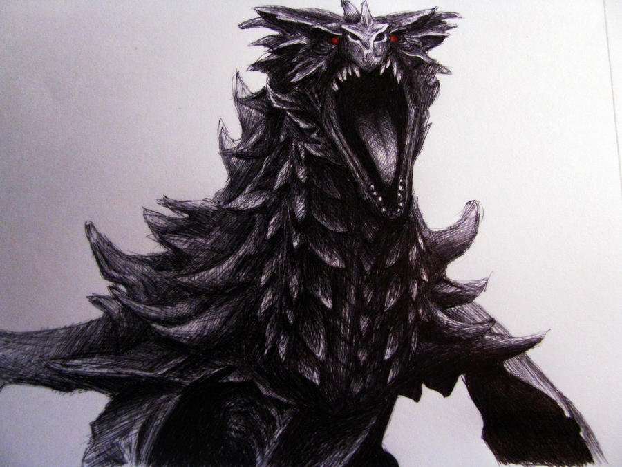 Alduin by misscuteness