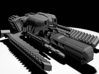 CrimsonBlade Gun Ship by CeresRegnum