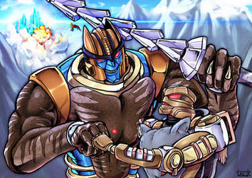 Rattrap and Dinobot by k-tack