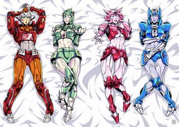 G1 Female Autobots Dakimakura cover style by k-tack