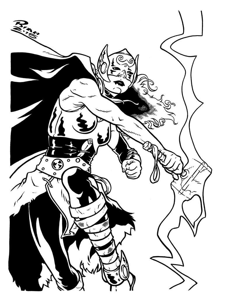 Art...Or Else! - Thor: Goddess Of Thunder by rianmiller
