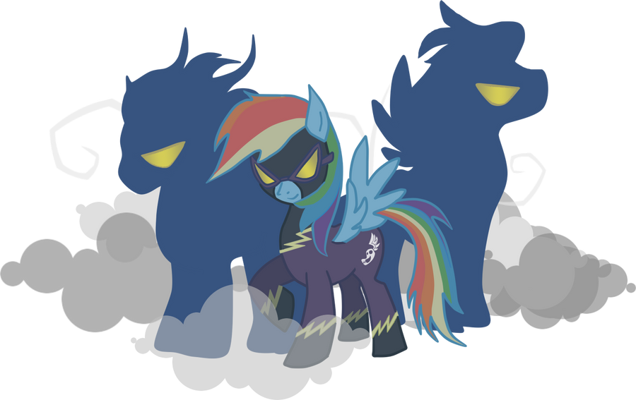 Shadow Bolt Rainbow Dash by kaizerin