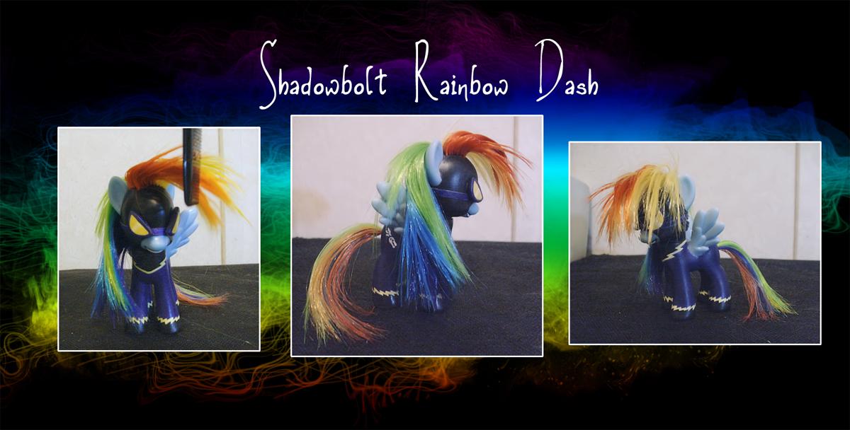 My Little Pony Shadowbolt Rainbow Dash Custom by kaizerin