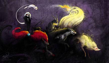 Pokemon Team Goth by kaizerin