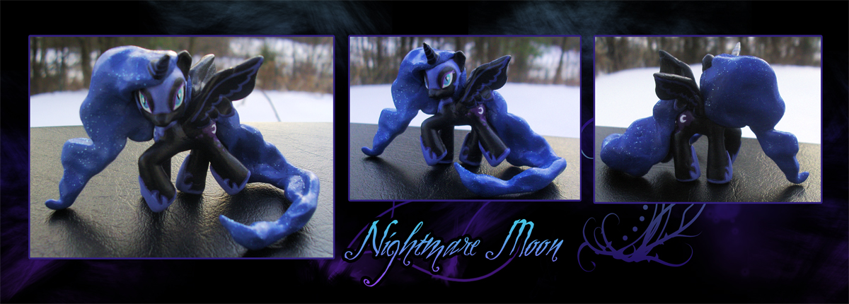 My Little Pony Nightmare Moon Blindbag Custom 2 by kaizerin