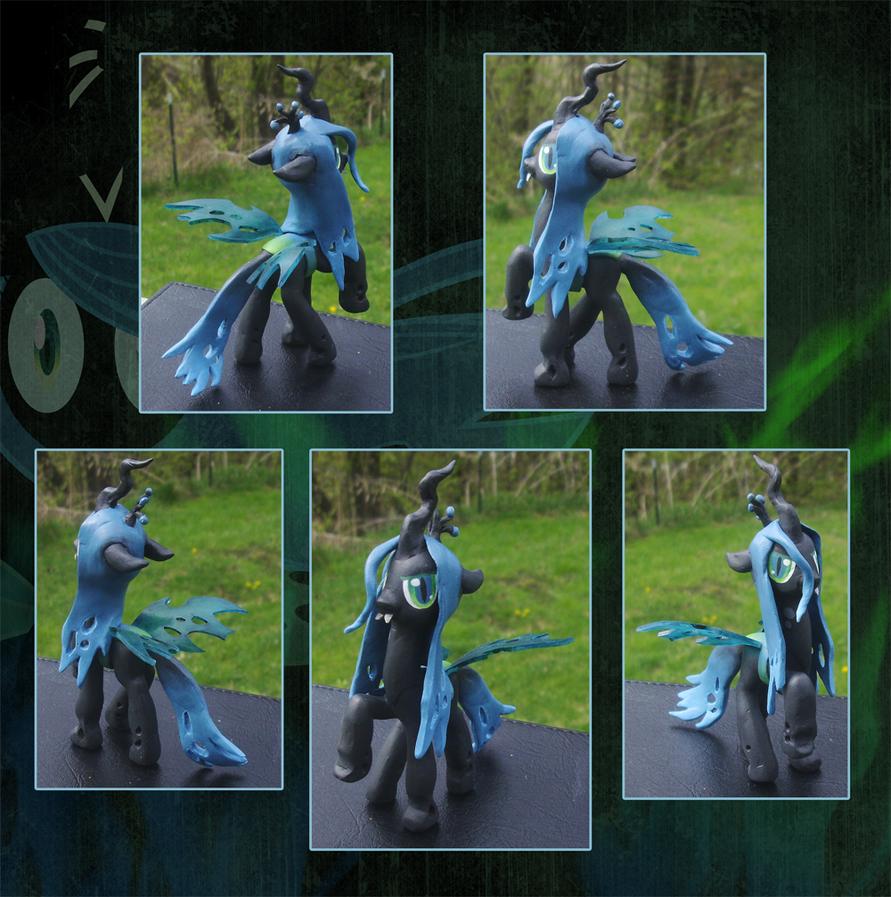 My Little Pony Queen Chrysalis Custom by kaizerin