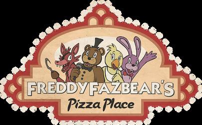 FNAF Freddy Fazbear Pizza Logo shirt design by kaizerin