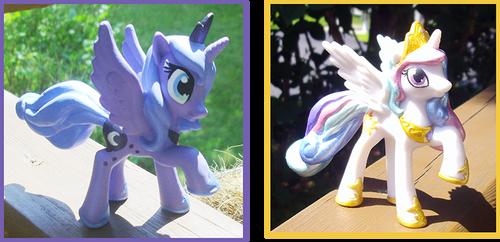 My Little Pony Celestia and Luna Customs by kaizerin
