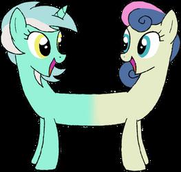 My Little Pony - LyraBon by kaizerin