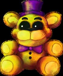 Five Nights at Freddy's FNaF4 - Plush Fredbear by kaizerin
