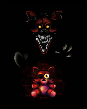 Five Nights at Freddy's FNaF4 Nightmare Foxy