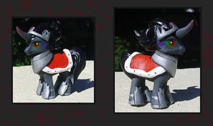 My Little Pony Custom - King Sombra Blindbag by kaizerin