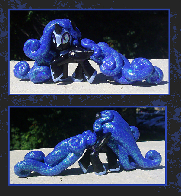 My Little Pony Custom - Nightmare Moon Blindbag by kaizerin