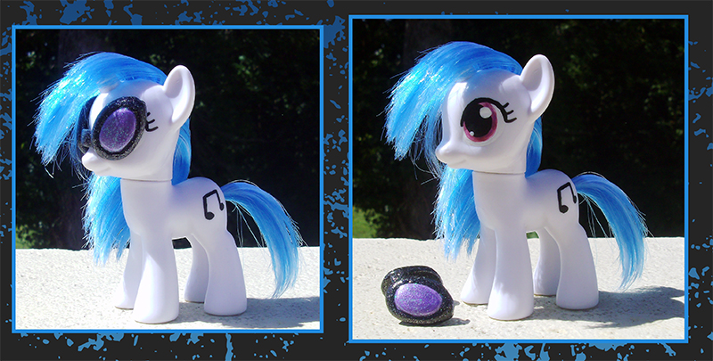 My Little Pony Custom - Vinyl Scratch by kaizerin