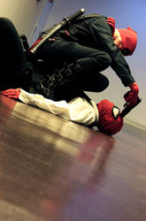 Spideypool - Now you're fuck. Bitch. by Jio-saso