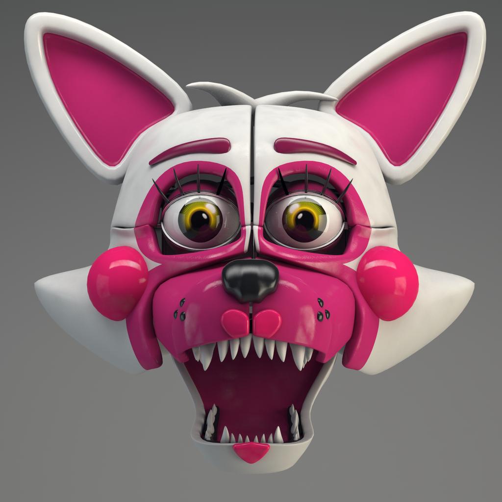 Funtime Foxy Head Render! By Qutiix On DeviantArt