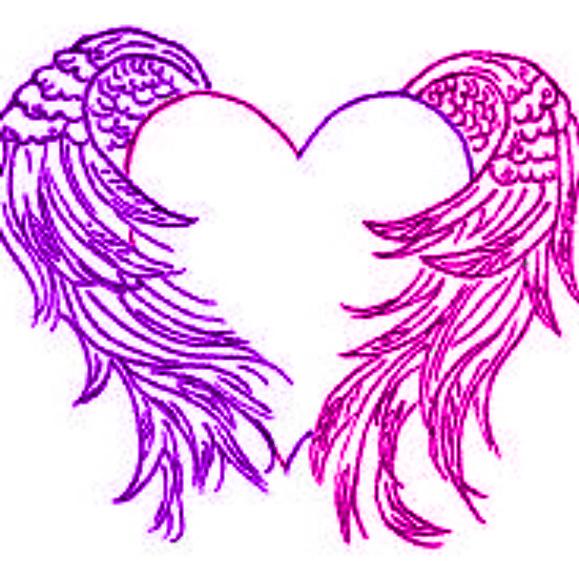 Pink-Purple Heart by DarkAngel15414 on DeviantArt