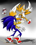 Quick draw RQ:Sonic vs Tails by amberday