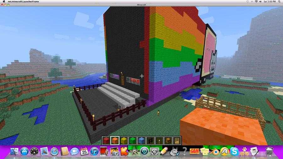 Minecraft Nyan Cat House Day2 Pic 2 By Ghostriderwolf On Deviantart