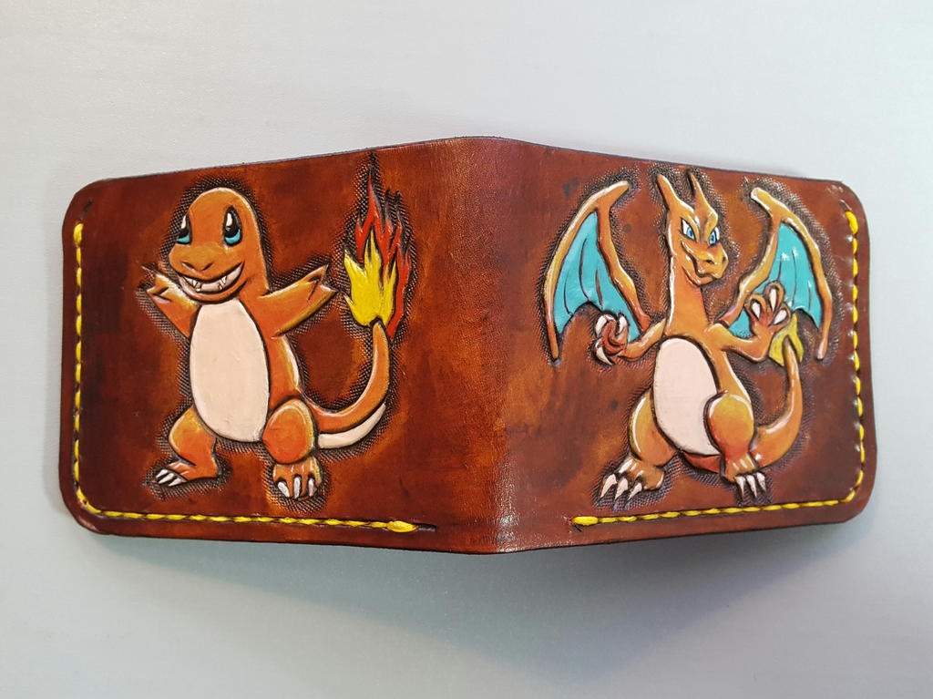 Charmander and charizard leather wallet 2017 by Bubblypies