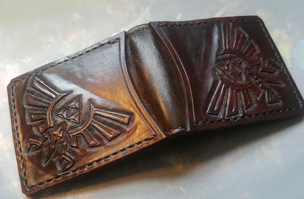Dark Brown Zelda wallet by Bubblypies