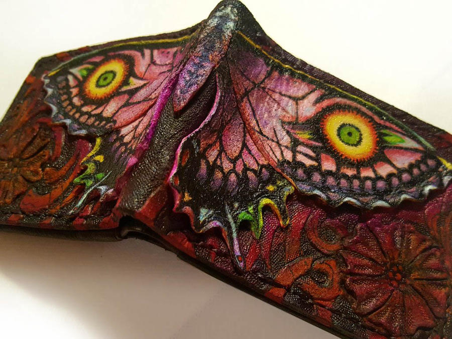 Majora Larvatum Papilio Leather wallet by Bubblypies
