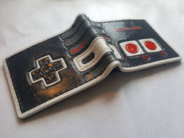NES controller leather wallet