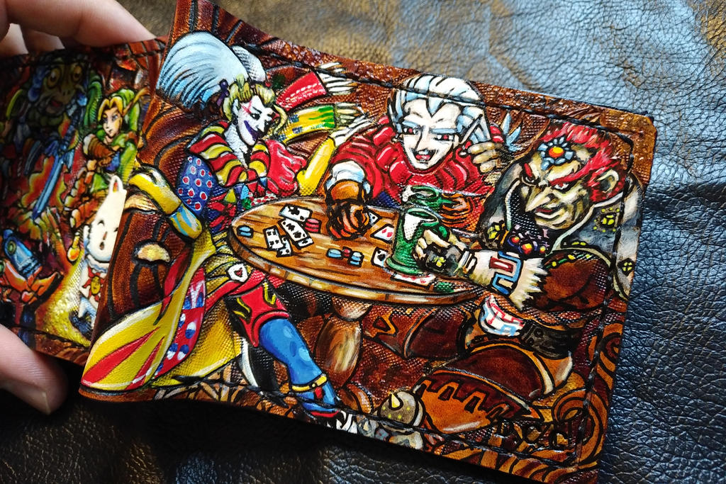 Kupo, praise the sun ! The bad, Leather wallet by Bubblypies